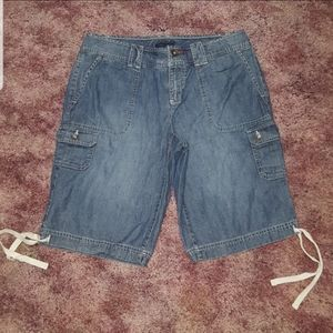 TOMMY HILFIGER CARGO JEAN SHORTS JEANS NEW